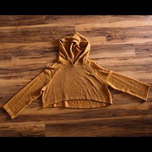 Cropped orange hoodie